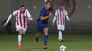 Arnau Comas, en la Youth League