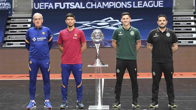 Andreu Plaza, Daniel, Alex Merlim y Nuno Dias, junto a la Champions