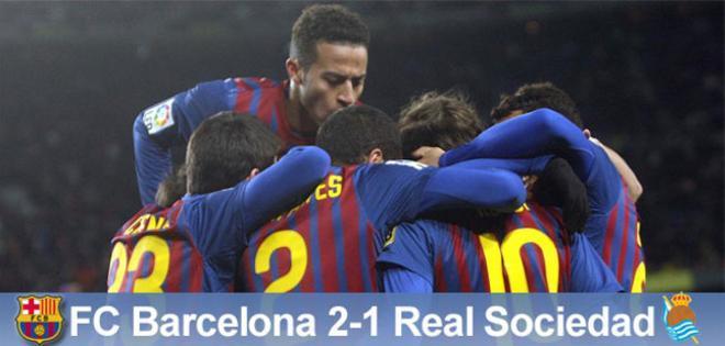 El Barça venció a la Real Sociedad