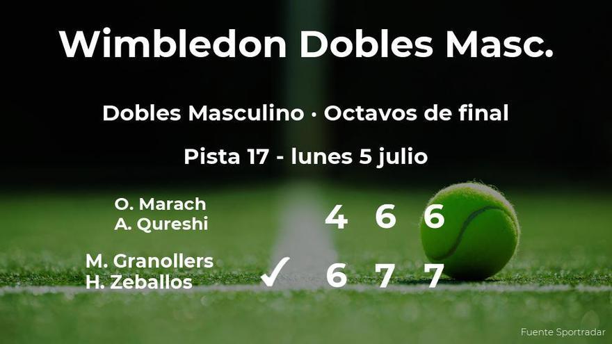 Los tenistas Granollers y Zeballos pasan a los cuartos de final de Wimbledon