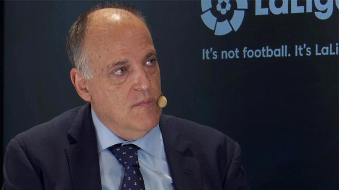 Tebas, tras la crisis por la covid-19: El fútbol español ha demostrado ser solvente