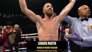 Sandor logró una victoria impresionante