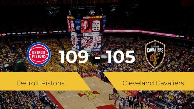 Detroit Pistons gana a Cleveland Cavaliers (109-105)