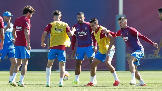 El Barça durante la última sesión