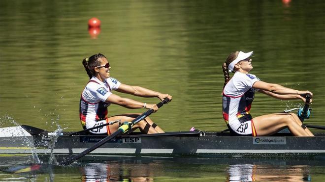 Cid y Díaz durante la prueba en Suiza