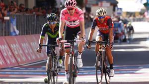Dumoulin dominó a sus rivales, Nairo Quintana y Nibali