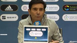 Marcelino, en rueda de prensa