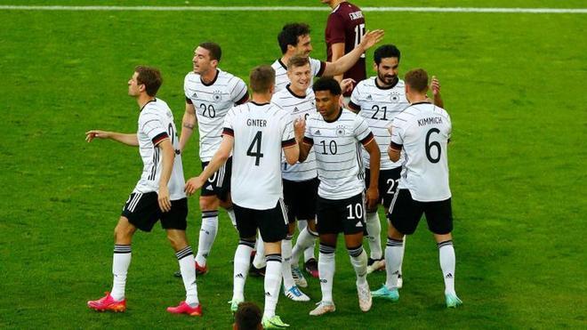Alemania viene de aplastar a Letonia en un amistoso internacional que culminó 7-1
