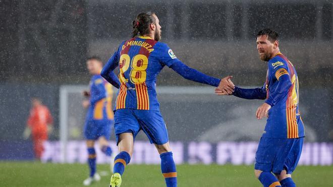 Mingueza marcó el gol del Barça en el clásico