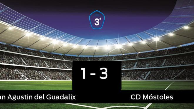 El Móstoles vence 1-3 frente al San Agustin del Guadalix