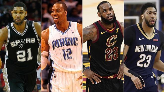 Duncan, Howard, LeBron y Davis, con suerte dispar en sus inicios
