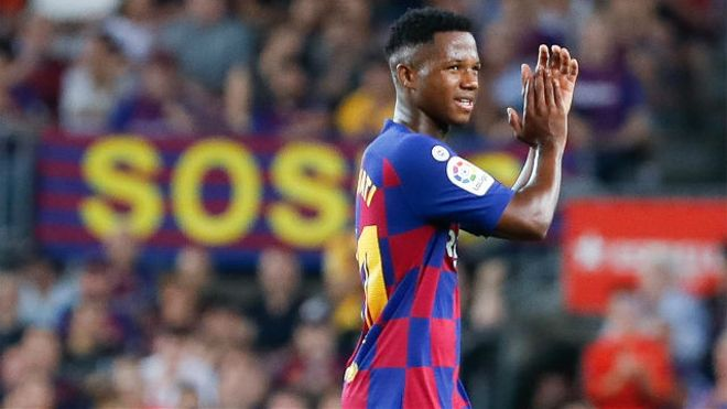 Ansu Fati, titular ante el Borussia Dortmund