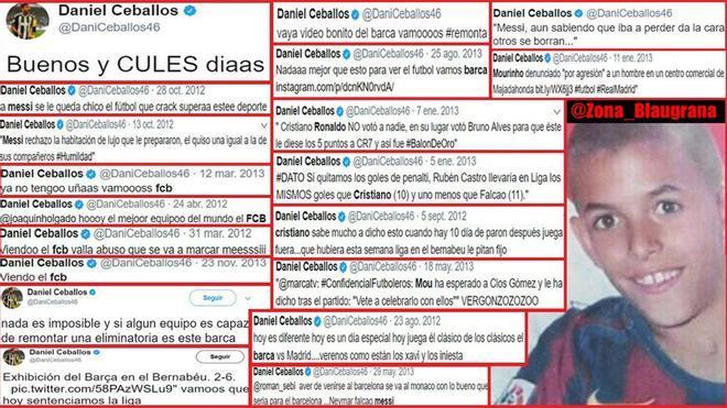 Los tuits barcelonistas de Dani Ceballos