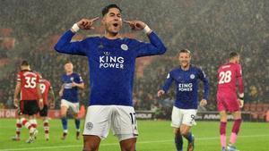 Ayoze Pérez firmó un hat-trick en la goleada récord del Leicester en Southampton