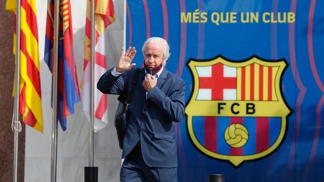 Tusquets, en las oficinas del FC Barcelona