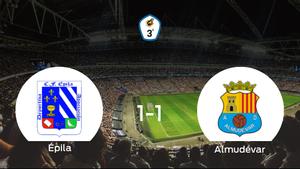 El CF Épila y el Almudévar se reparten los puntos tras su empate a uno