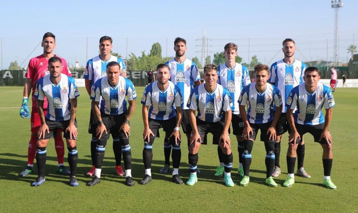 Imagen del equipo titular ante la UD Las Palmas