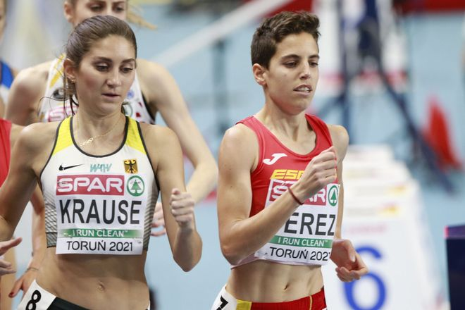 Marta Pérez durante la final de los 1.500