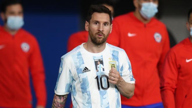 Leo Messi, durante un partido de la selección argentina