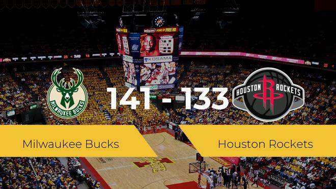 Milwaukee Bucks se impone a Houston Rockets por 141-133