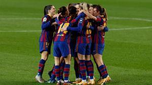 Imagen de archivo de las jugadoras del Barça