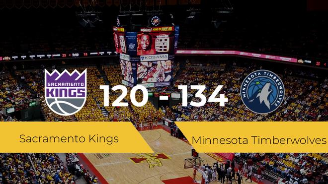 Minnesota Timberwolves consigue la victoria frente a Sacramento Kings por 120-134