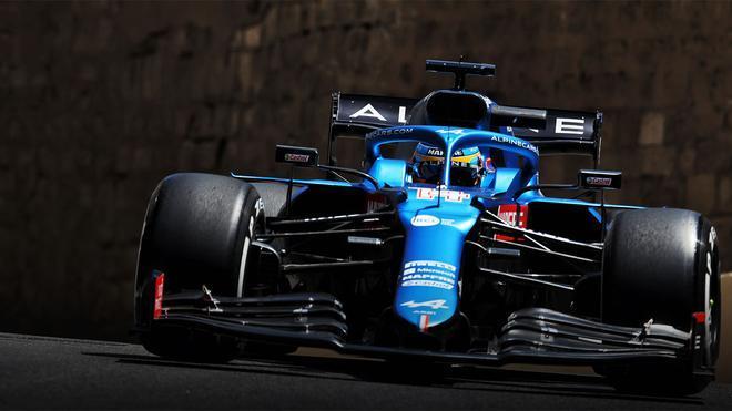 Alonso terminó sexto en Bakú