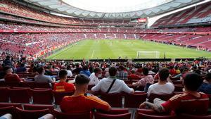 La afición de la Roja volvió a los estadios con ocasión del España-Portugal (0-0) celebrado en el Wanda Metropolitano