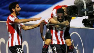 Iñaki Williams celebrando su gol