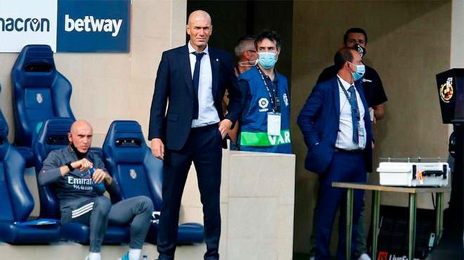 Zidane: Hoy hay que estar contentos con el partido de Vinícius