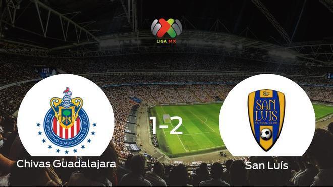 El San Luís vence 1-2 al Chivas Guadalajara y se lleva los tres puntos