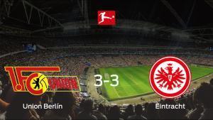 El Union Berlíny el Eintracht Frankfurtse reparten los puntos y empatan 3-3