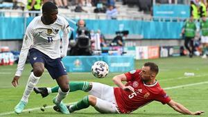 Dembélé, en un lance del encuentro ante Hungría