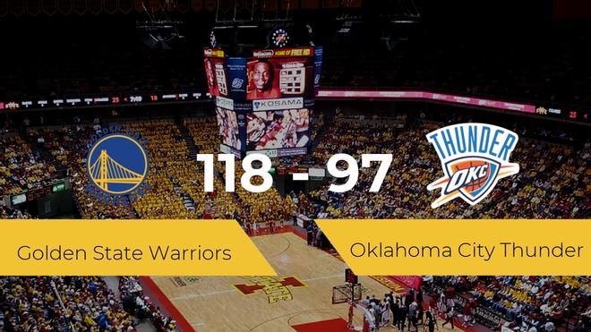 Golden State Warriors vence a Oklahoma City Thunder por 118-97
