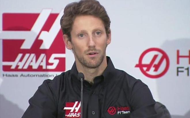 Grosjean, con los colores de Haas F1