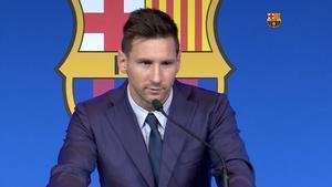 El discurso de Messi en su despedida de Barcelona