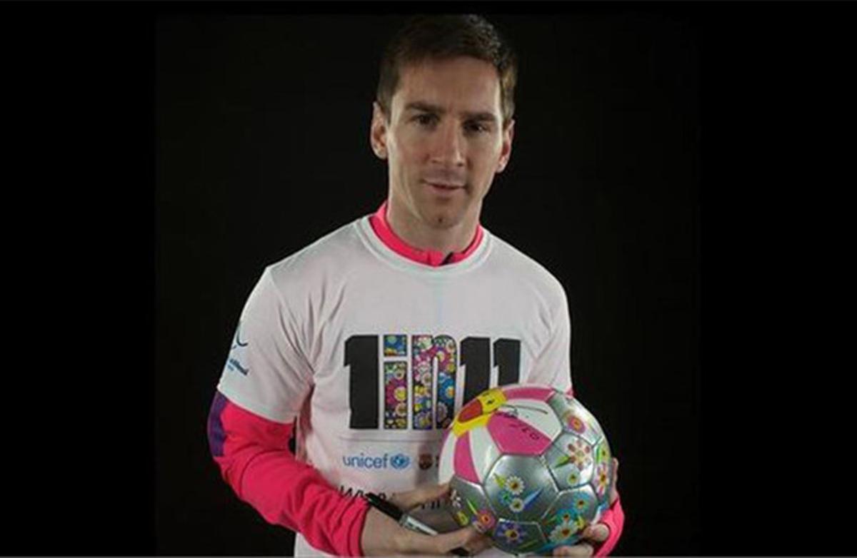 Leo Messi participa en la Fundació FC Barcelona a través de su propia fundación