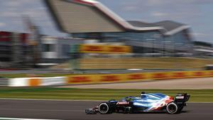 Alonso, durante su espectacular remontada en Silverstone