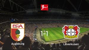 El FC Augsburg y el Bayer Leverkusen empatan 1-1 y se reparten los puntos