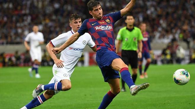 Sergi Roberto empezó en el medio del campo