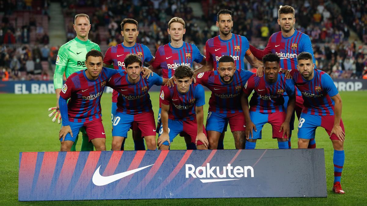 La alineación del FC Barcelona frente al Valencia en el partido del Camp Nou de LaLiga 2021/22