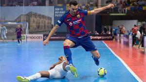 Sergio Lozano, contra ElPozo en la Supercopa de 2019