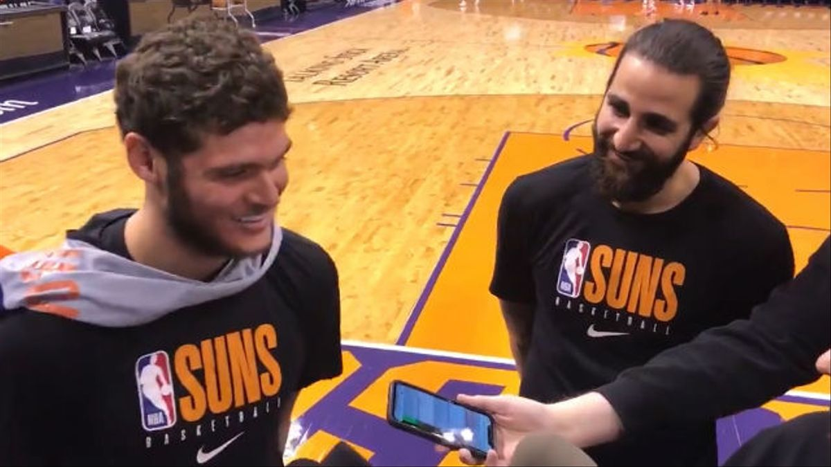 El divertido momento de Ricky Rubio en el entrenamiento de los Suns: Me está enseñando español