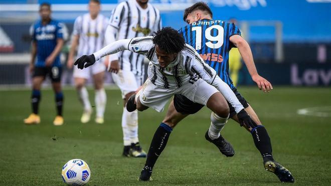 Cuadrado fue el mejor jugador de la Juventus frente a la Atalanta