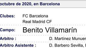 El clásico se jugó en el Benito Villamarín, según el colegiado, Martínez Munuera