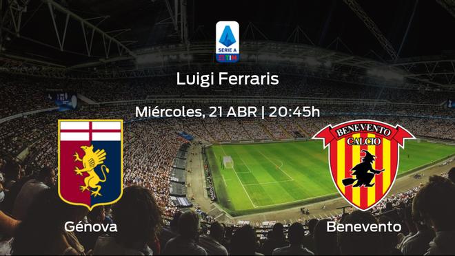 Jornada 32 de la Serie A: previa del partido Génova - Benevento