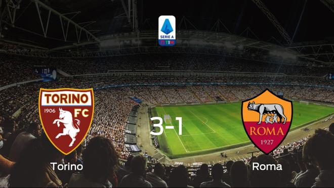 Triunfo del Torino por 3-1 frente a la AS Roma