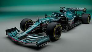 Así luce el nuevo AMR21 de Vettel y Stroll