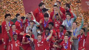 El Bayern celebra el Mundial de Clubes