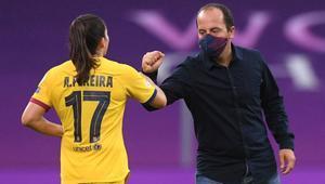 Andrea Pereira y Lluís Cortés, en la previa de Champions